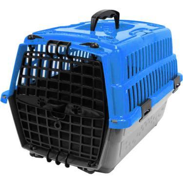 Caixa de Transporte Pet Injet Love Travel Azul - Tam. 01