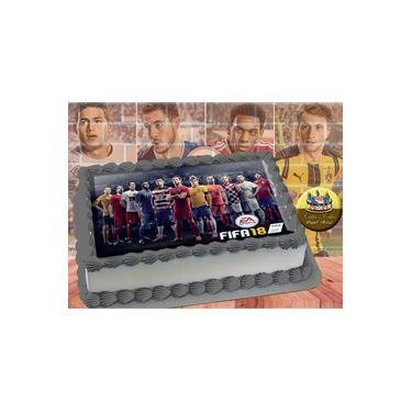 PS4 XBOX GAME - Papel De Arroz Comestível Para Bolo FIFA 16 E 18 A4 20x30cm Mod.06