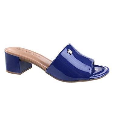 Tamanco Ramarim Varnished Azul Feminino