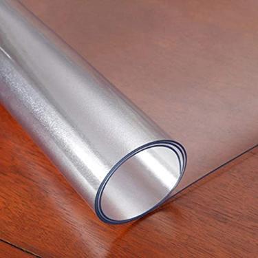 Imagem de Toalha de mesa de vinil com forro de flanela retangular 80 x 160 cm, toalha de mesa para mesa de cozinha, capa de mesa de plástico com linda flor, para proteger suas mesas finas
