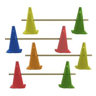 Kit Agilidade 8 Cones 50cm com 4 Barreiras Rythmoon