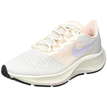 Tênis de corrida feminino Nike Air Zoom Pegasus 37, Pale Ivory/Ghost-barely Volt, 10