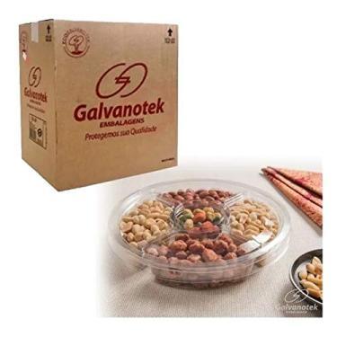 Imagem de Embalagem Petisqueira Com 4 Divisórias Galvanotek G540 C/100