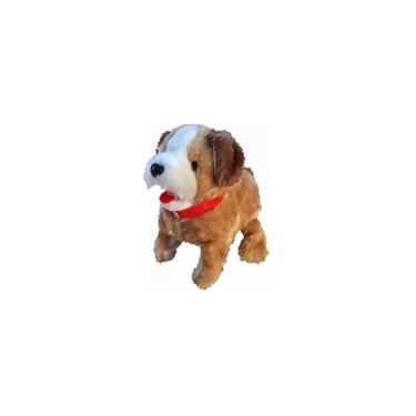Imagem de Brinquedo Cachorro Pelúcia Marrom - Pula Anda e Late