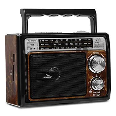 Imagem de Rádio Am Fm Estilo Retrô Com Entrada Usb D-1601
