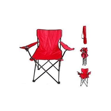 Cadeira Camping Dobrável Para Praia Com Bolsa e Porta Copo