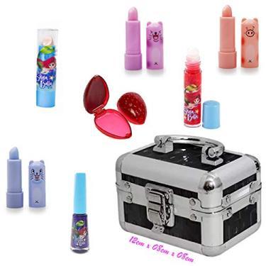 Imagem de Maleta Frasqueira Infantil Com Kit Maquiagem Completo ML008