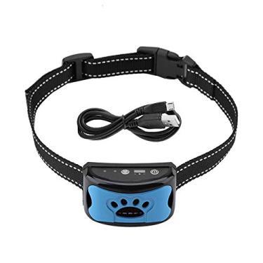 Imagem de Coleira de controle de latido, coleira antilatido, dispositivo anti-latido, coleira de adestramento para cães, pequena, média, grande, ajustável, USB, recarregável, à prova d'água, inofensiva e humana