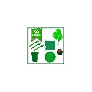 Kit Descartáveis Verde 50 Pessoas