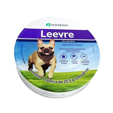 Coleira Leevre Ourofino 48cm Roxa -Antipulgas E Carrapatos E Protege Contra Leishmaniose