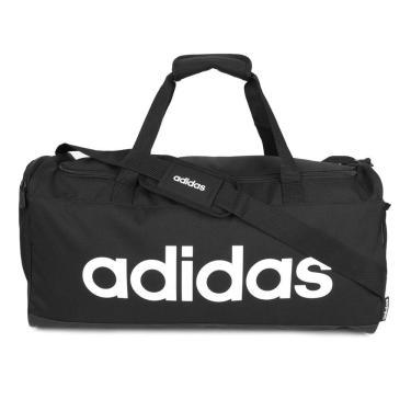 Mala Adidas Lin Duffle FL3651, Cor: Preto/Branco, Tamanho: U