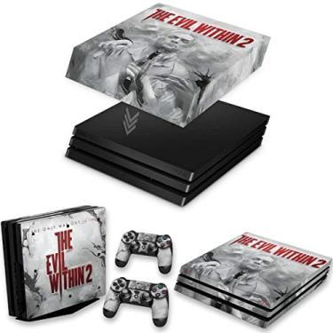 Capa Anti Poeira e Skin para PS4 Pro - The Evil Within 2