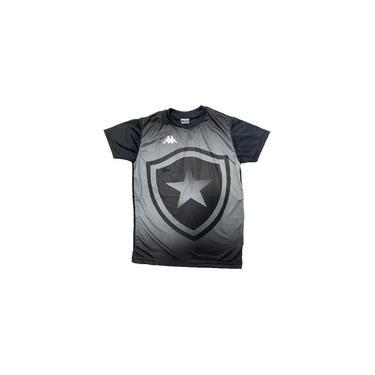 Camisa Botafogo Torcedor Kappa - Infantil Preta