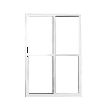 Porta de Correr Sacada Alumínio Branco 2 folhas 2,10 X 1,20