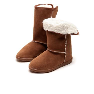 702b632f216 Bota Molekinha Infantil Velcro Caramelo Molekinha 2159.108.10529 menina