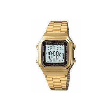 e9cd46594c0 Relógio Feminino Digital Casio A178WGA-1ADF - Dourado