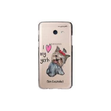 "Capa para Galaxy J5 Prime - I love my York "" nome do seu animal """