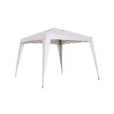 Tenda Gazebo Dobrável 2,4x2,4m - Branco- Bel Fix