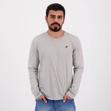 Camiseta Fila Trendy Manga Longa Cinza - M