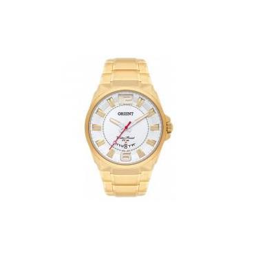 c12b16ab90b Relógio Orient Masculino Ref  Mgss1157 S2kx Casual Dourado