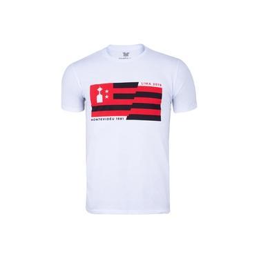 Camiseta do Flamengo Bandeira Lima Montevidéu Manto FC - Masculina