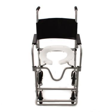 Cadeira de Rodas CDS Banho Dobrável Banho e Sanitário Adulto, com Assento Anatômico Removível, Freios Bilaterais, Pneus Maciços