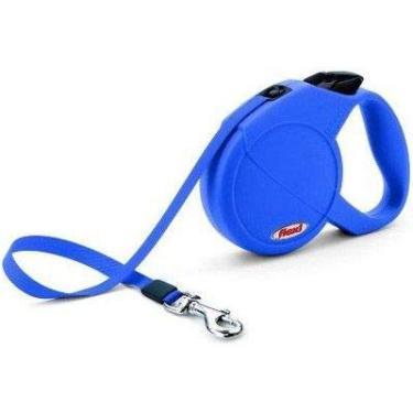 Guia Flexi Classic Basic Medium 20kg 5 metros Azul Corda