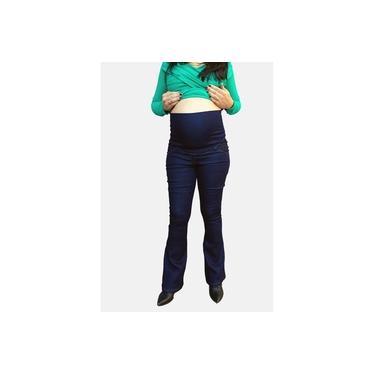 Calça Jeans Flare Juliane Gestante - Azul Escuro