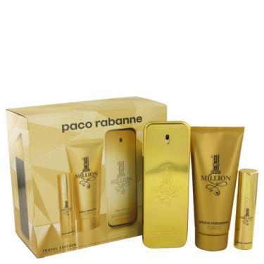 Perfume Masculino 1 Million CX. presente Paco Rabanne 100 ML Eau De Toilette  + 10 ML Mini EDT 100 ML + Gel De banho c66173fb3e