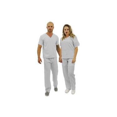 Pijama cirúrgico unissex Cinza - Premium (Oxford) (R: 22)