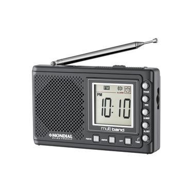 Rádio Portátil Mondial Multi Band II RP-04 AM/FM - Grafite