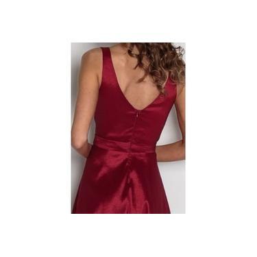 Vestido Mãe Noiva Festa Formatura Longo Luxo Vermelho