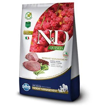 Ração Quinoa N&D para Cães Weight Management sabor Cordeiro - 800g