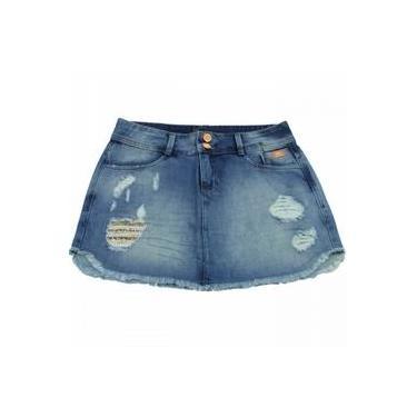 Saia Jeans Ana Hickmann Mini Mid Ah116
