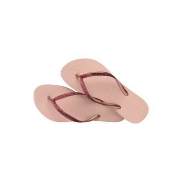 Chinelo Havaianas Slim Sparkle Fc Preto/branco/rosa/marinho