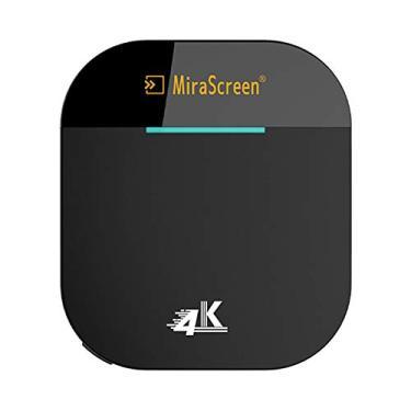 Receptor de exibição, Romacci G5 Plus 2.4G / 5G WiFi Display Receiver 4K UHD TV Stick Miracast DLNA AirPlay Screen Mirrioring para IOS Android Smart Phone Tablet PC Preto