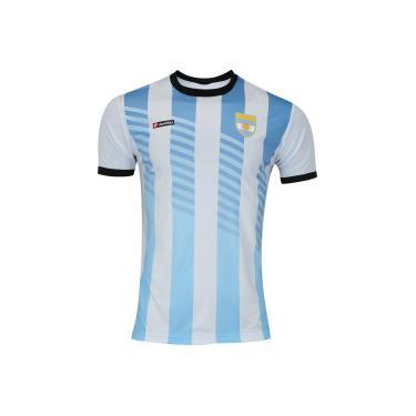 9cff9e6cde40b Camisa Argentina Retrô Lotto - Masculina - BRANCO PRETO Lotto