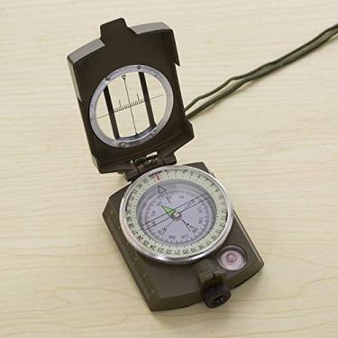 Angusshop Bússola de metal luminoso Bússola de alta precisão K4580 Bússola profissional magnética à prova d'água à prova d'água para acampamento de caça