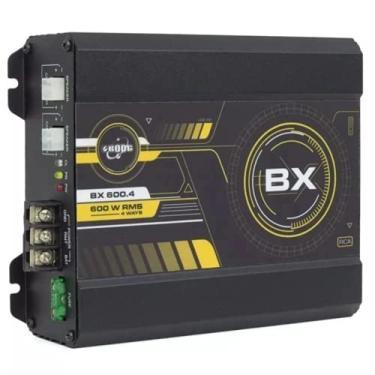 Modulo Amplificador Digital Boog BX600.4 600w Rms 4 Canais Mono Estereo