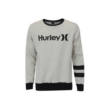Blusão de Moletom Hurley Block Party - Masculino - CINZA CLARO Hurley 7b23ed38773