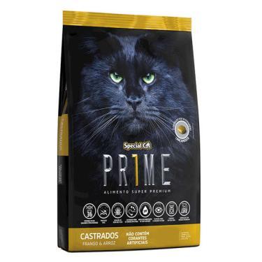 Ração Special Cat Prime Frango e Arroz para Gatos Adultos Castrados - 3 Kg