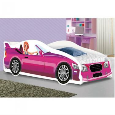 9839a0fc4a Cama Solteiro 100% Mdf Carro Glamour Rosa Jm Barreto