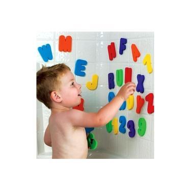 Imagem de Brinquedo Educativo Letras E Números Para Banho 36 Peças Buba