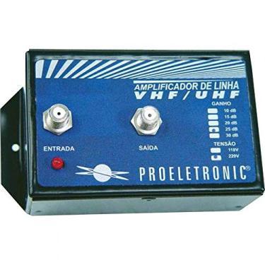 Amplificador de Linha Vhf/Uhf 30 Db Proeletronic PQAL-3000