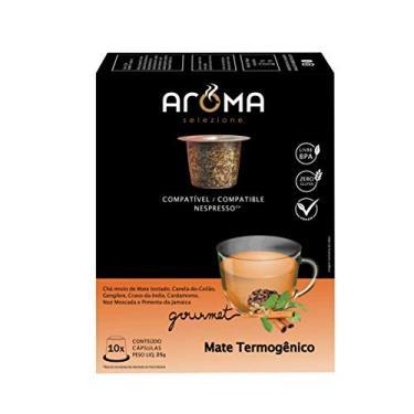 Cápsulas de Chá Mate Thermogenico Aroma Selezione, Compatível com Nespresso, Contém 10 Cápsulas
