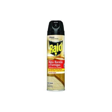 Inseticida Aerossol Raid Mata Baratas e Formigas Tripla Ação 285ml