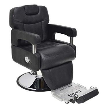 Imagem de Cadeira Poltrona Arizona Barbeiro móveis para barbearia cor: Preto croco