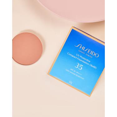 shiseido protetor solar facial compacto fps35 refil uv protective compact foundation - 12g