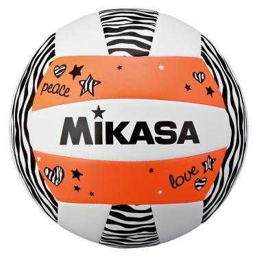 Bola de Volêi Mikasa VXS-ZB - Branco/Preto/Laranja