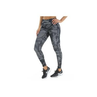 Calça Legging Nike Power Essential Tight Print - Feminina - PRETO CINZA Nike c0484b64edbaa